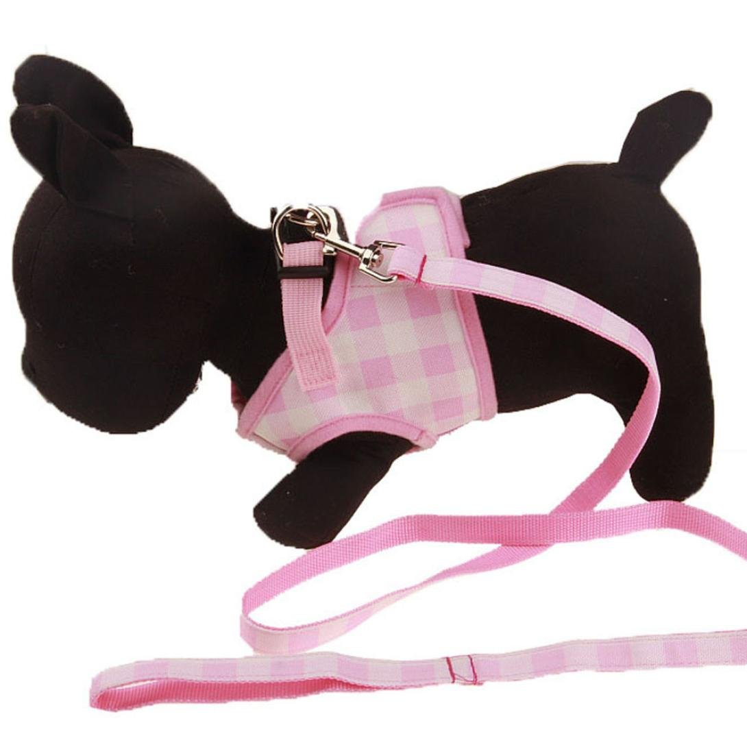 Clearance, OOEOO Dog Traction Harness Leash Lead Rope Outdoor Safety Vest Best Pet Supplies Walk Out (Pink, S) by OOEOO Pet Clothes (Image #2)