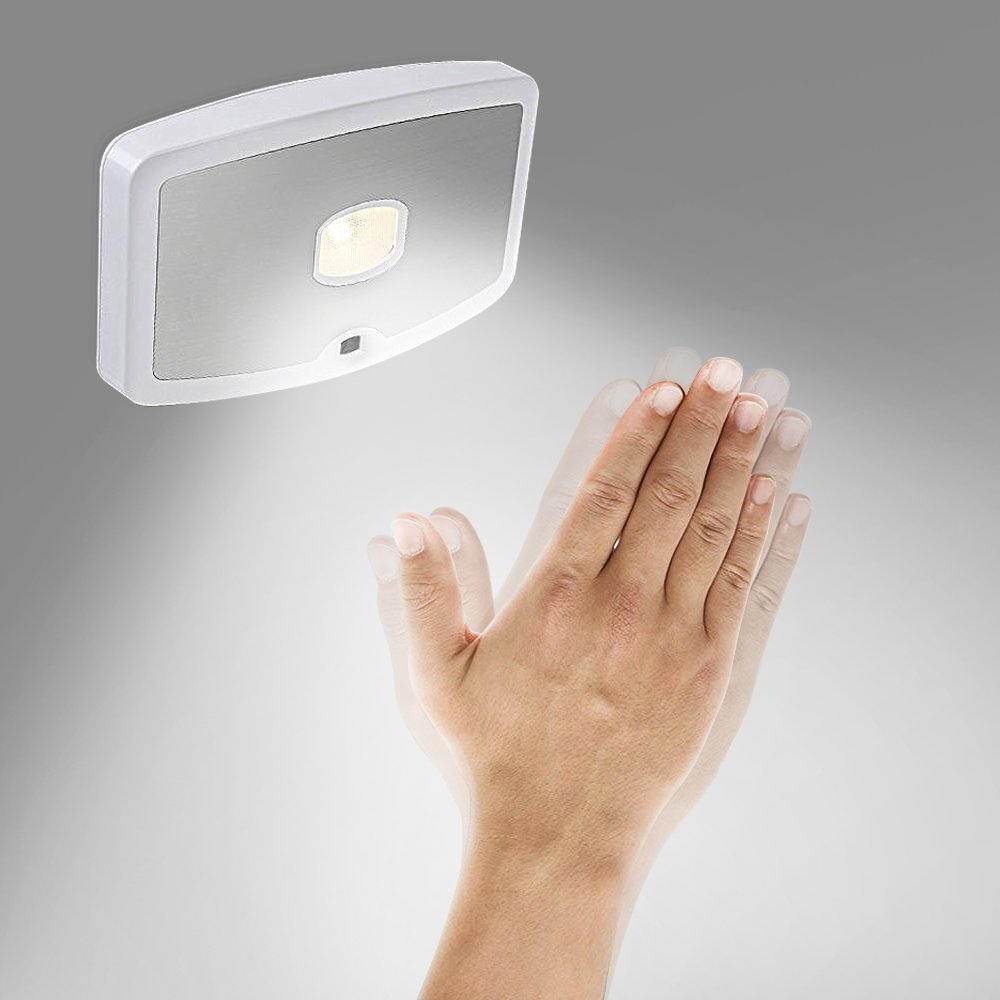 iTimo LED Wide Angle Wireless Motion Sensor Night Light Body Induction Cabinet Lamp with 3 AA battery included by iTimo