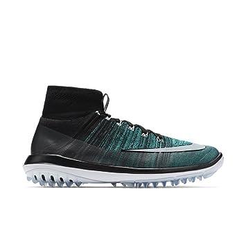 2e97b608f2ed Nike Flyknit Elite Spikeless Golf Shoes 2017 Black Clear Jade Glacier Blue  White