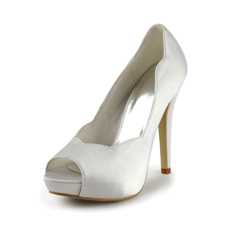 Minishion Girls Womens Platform Stiletto High Heel Bridal Wedding Sandals