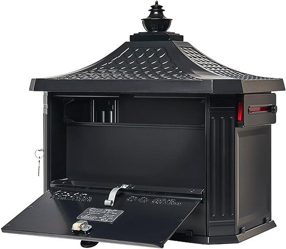Gibraltar Mailboxes Pedestal Large Capacity Cast Aluminum Black PED0000B Solar Group Mailbox /& Post Combo