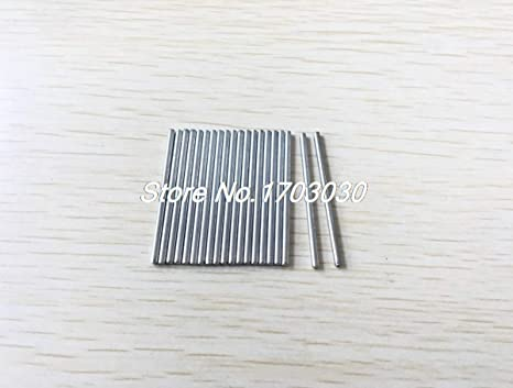 Ochoos 20pcs RC Aircraft Toys Replacement Stainless Steel Round Bar 30x2.5mm