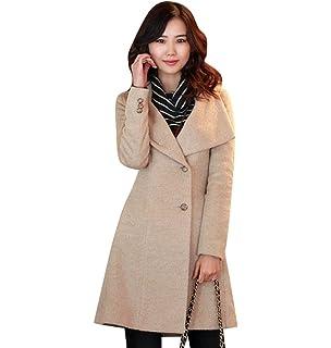 Jitong Mujer Trench Abrigo con Cinturón Chaqueta Cuello Alto Jacket Coat Outwear