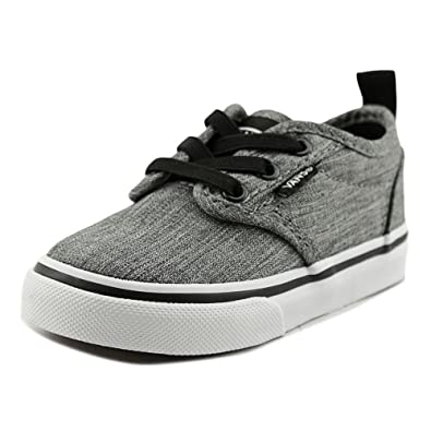 64c74ea79f Vans Toddler s Atwood Slip on (Rock Textile) Black White ...