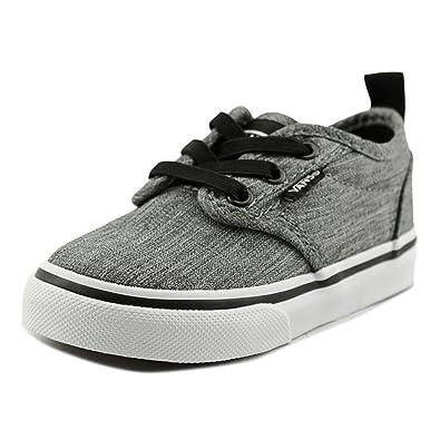468f7e483d3337 Vans Toddler s Atwood Slip on (Rock Textile) Black White ...