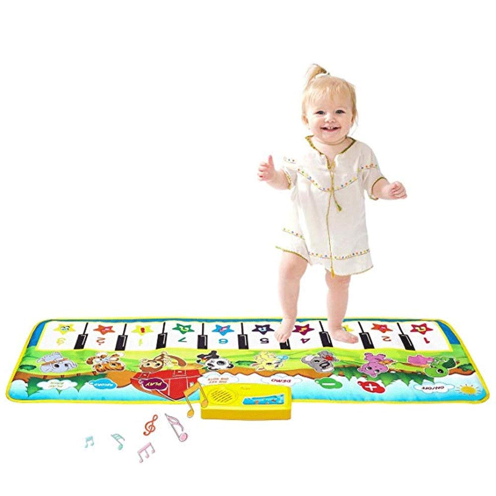 Mopoq Fresh Family Piano Mat Children's Music Mat Dance Mat Educational Toys Birthday Christmas Easter Boys And Girls Gifts Children Early Learning Puzzle Foot Steps Grand Piano Dance Mat Music Mat Pa by Mopoq (Image #1)