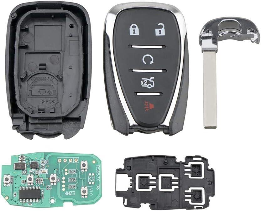 433MHz Smart Remote Key Fob 433MHz ID46 Chip 5 Button for Chevrolet Camaro Cruze Malibu 2016 2017 2018 2019 FCCID HYQ4EA P//N 13508771
