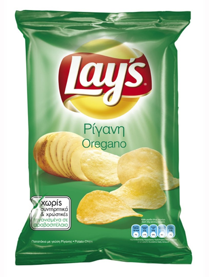 Lay's Potato Chips From Greece with Oregano - 50 Packs X 33g (1.1 Ounces Per Pack) by Lay's