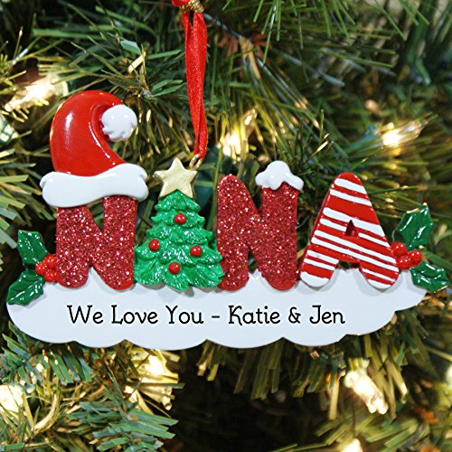 GiftsForYouNow Nana Personalized Christmas Ornament