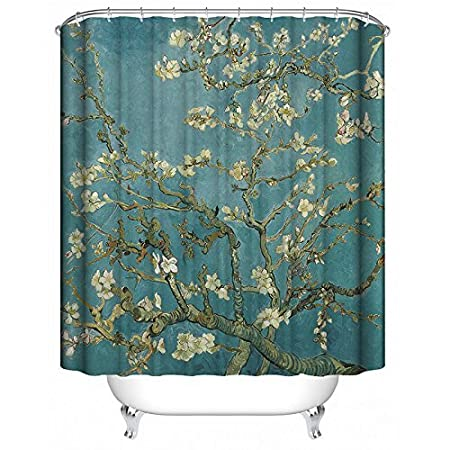 ALDECOR Tree of Life Shower Curtain, Colorful Tree Four Seasons Bath Decorations Mildew Resistant Fabric Waterproof/Water-Repellent & Antibacterial Shower Room Decor Shower Curtains?60x72 inch HZJF3