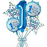 Rozi Decoration 1st Birthday Boy Foil Balloon Set(Pack of 5-Blue)