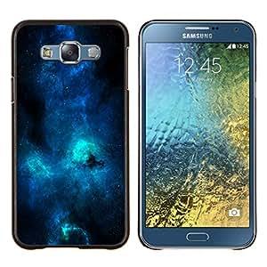 TECHCASE---Cubierta de la caja de protección para la piel dura ** Samsung Galaxy E7 E700 ** --Azul Galaxia Vía Láctea