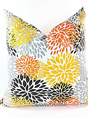 Cover Chili Peppers - Blooms Chili Pepper Pillow cover. Sham cover. Throw Pillow cover. Select size.