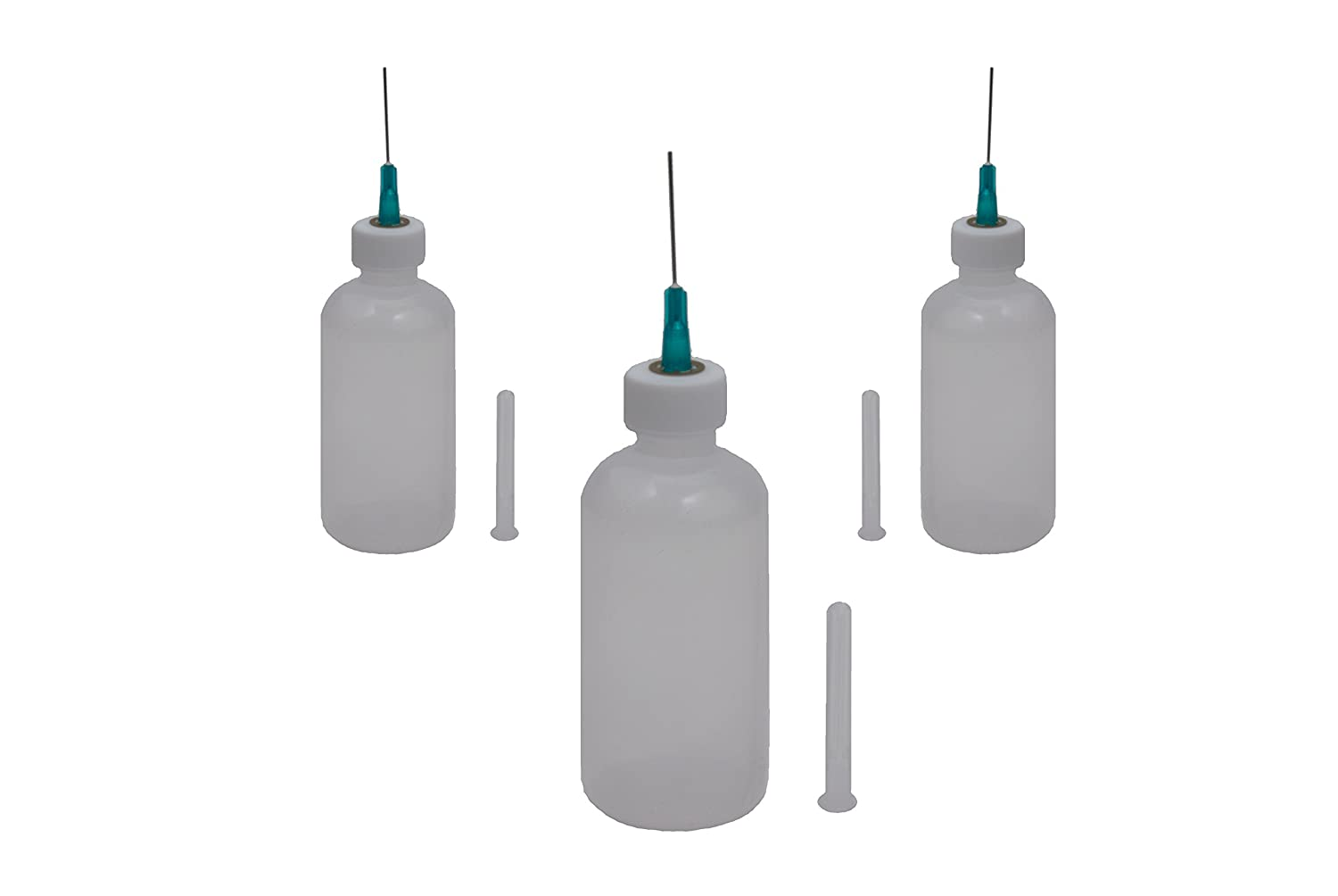 Pack of 40 17G 1//2 Inch sourcing map Industrial Dispensing Needle with Luer Lock Clear Precision Applicator