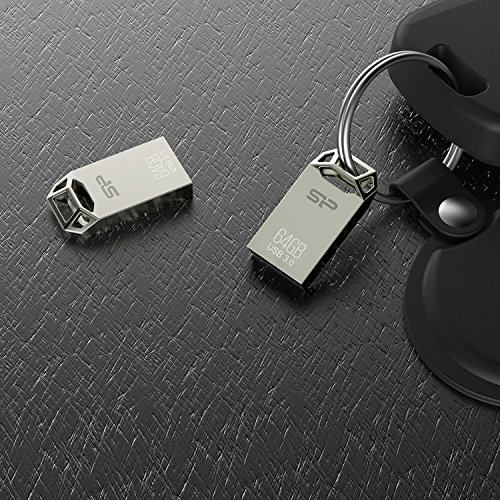 Silicon Power 64GB Jewel J50 USB 3.0 Zinc-Alloy Compact Flash Drive, Titanium Edition (SP064GBUF3J50V1TBT) by Silicon Power (Image #3)