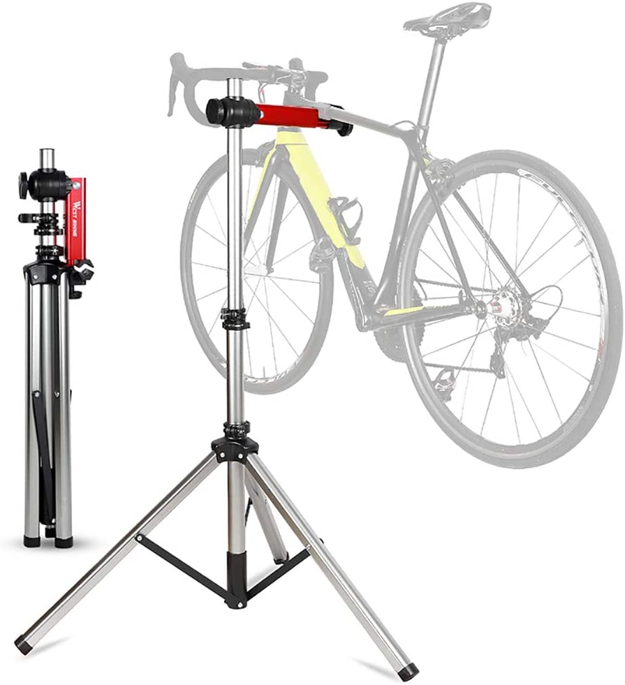 Foldable Maintenance Rack Lilypelle Bike Repair Stand Bicycle Repair Mechanics Workstand Home Used Height Adjustable for Mountain or Road Bike Maintenance