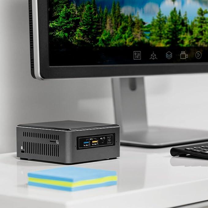 Intel NUC NUC7i3BNHXF 2.4GHz i3-7100U Nettop Negro, Gris Mini PC - Ordenador de sobremesa (2,40 GHz, 7ª generación de procesadores Intel® CoreTM i3, ...