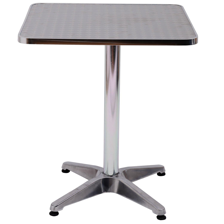 Wonderful Homcom Height Adjustable Bistro Table Pub Bar Square Table Stainless Steel  Top Aluminium Edge 60 X 60cm: Amazon.co.uk: Kitchen U0026 Home