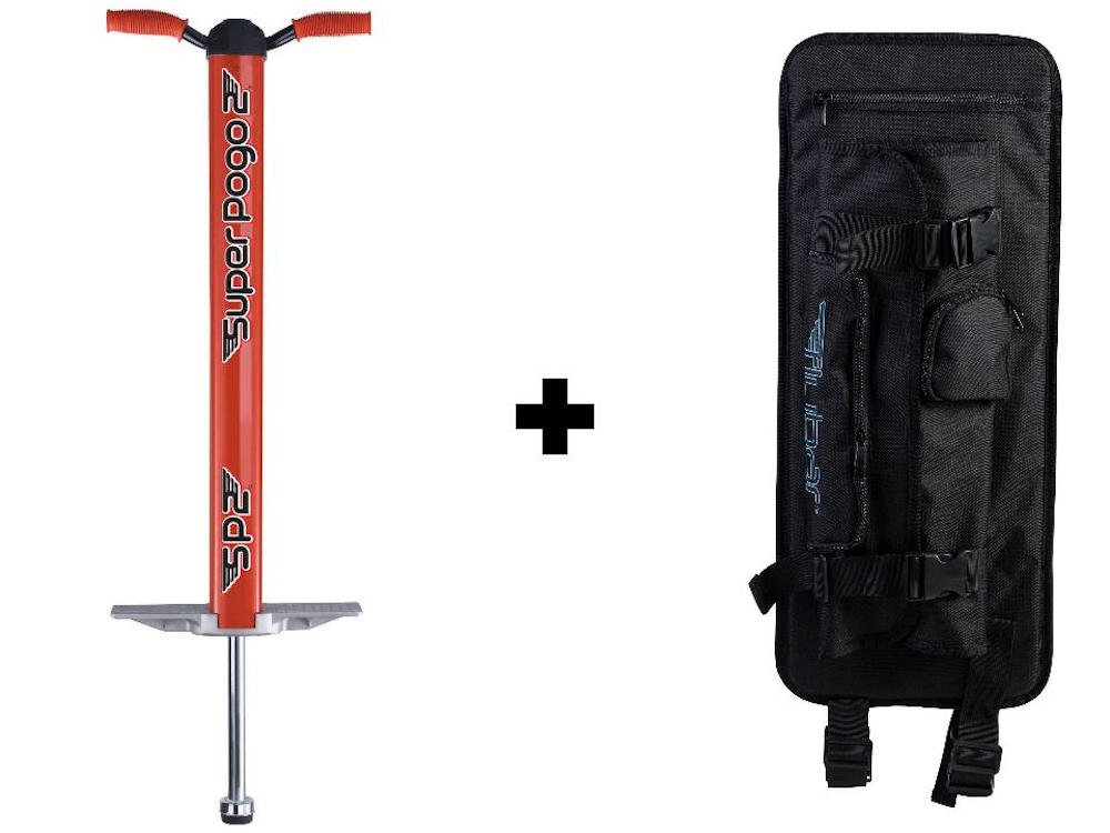 Flybar Super Pogo 2 & Pogo Backpack Carrier - Red by Flybar