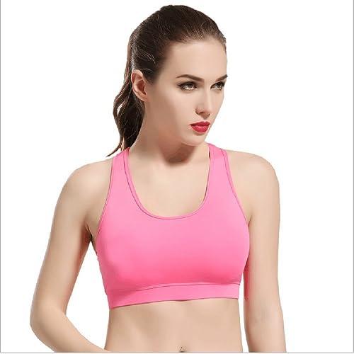 GOMNEAR Mujer Yoga Bra Ladies Seamless Exercise Leisure Vest Push Up Confort Amortiguador Bra