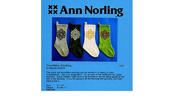 Ann Norling Pattern #1020 Christmas Stockings IV