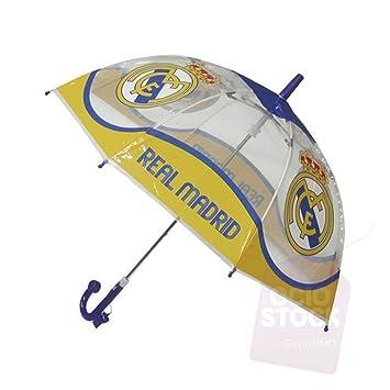 Paraguas Real Madrid 42,5cm Burbuja Transparente