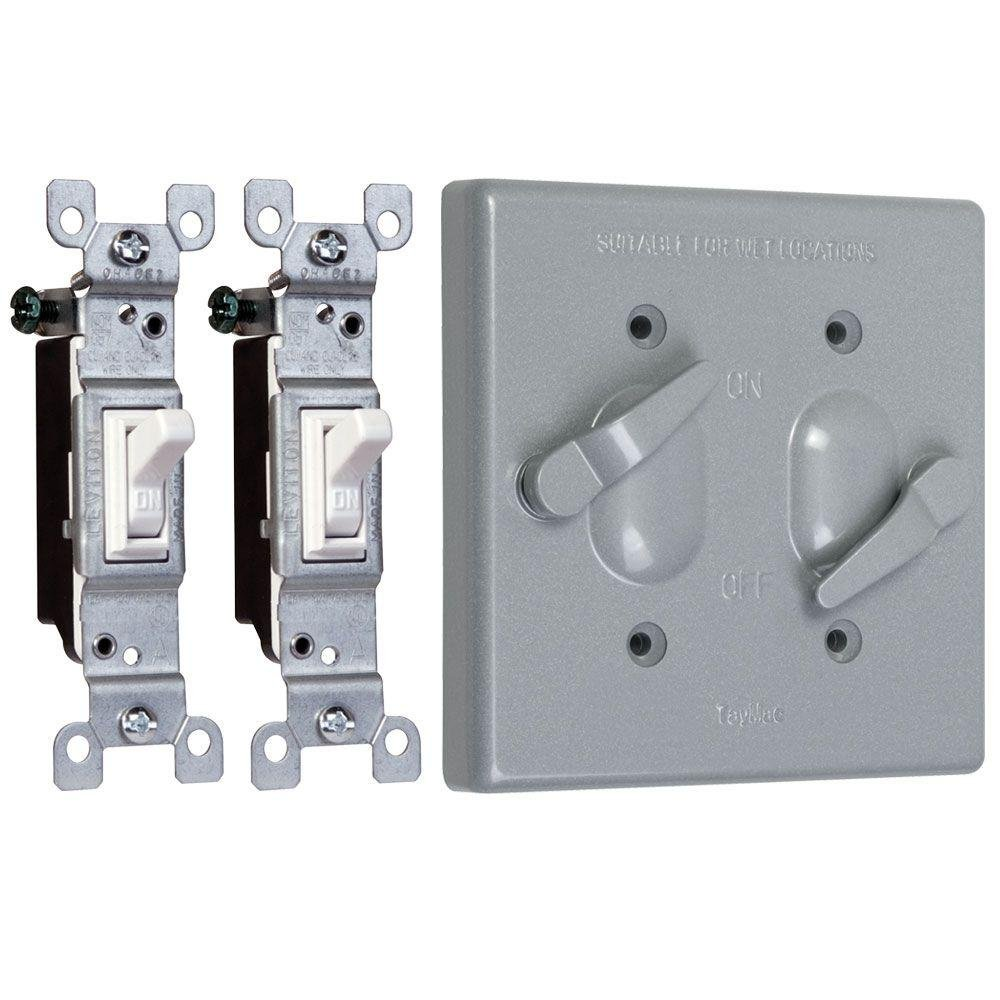 Taymac TC221S Weatherproof Toggle Cover, 2-Gang, Vertical Device ...