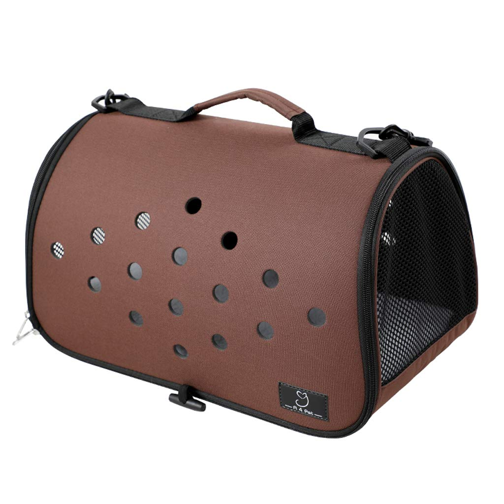 Brown Pet bag, portable Teddy dog bathing cat bag Outing cat cage small travel Cat backpack