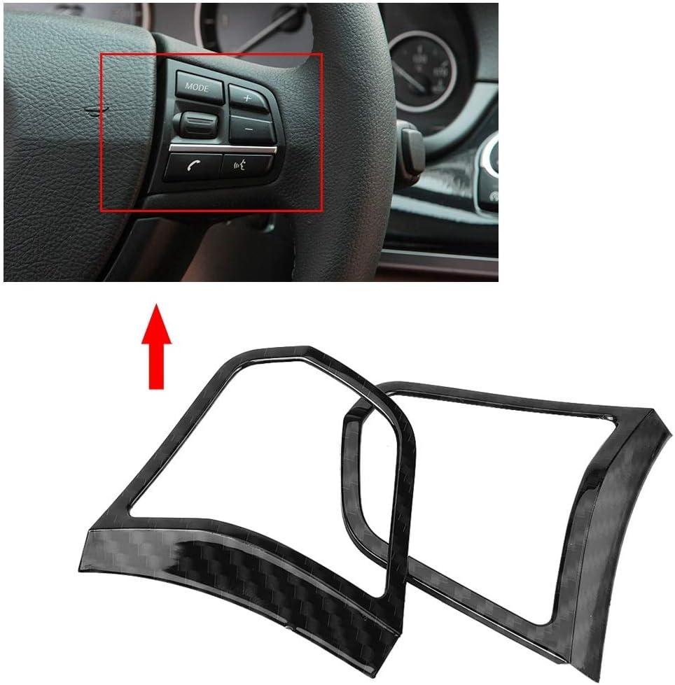 Vobor Lenkrad-Tastenabdeckung-ABS Innenraum f/ür Lenkrad-Tastenblenden f/ür BMW 5er-Reihe F10 2011-2016