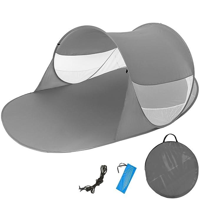 11 opinioni per TecTake Tenda popup da spiaggia protezione UV sole automatica 245x145x95cm-