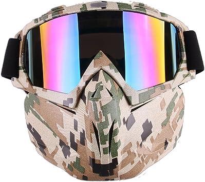 Motorcycle Motorbike Goggles Retro Helmet Glasses Eyewear Camo