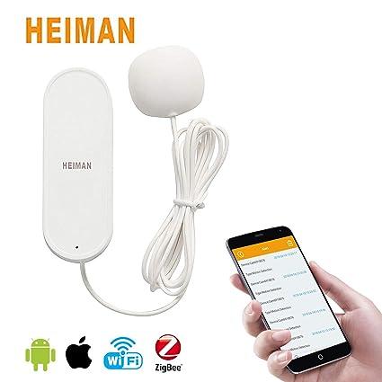 Zigbee - Detector de fugas de agua con sensor de agua WiFi, funciona con teléfono