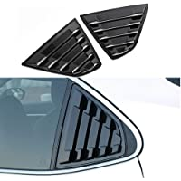 Carbon Fiber Grain B17 HIGH FLYING for Nissan Sentra 2013 2014 2015 2016 2017 2018 2019 ABS Back Side Window Scoop Louvers Cover 2pcs