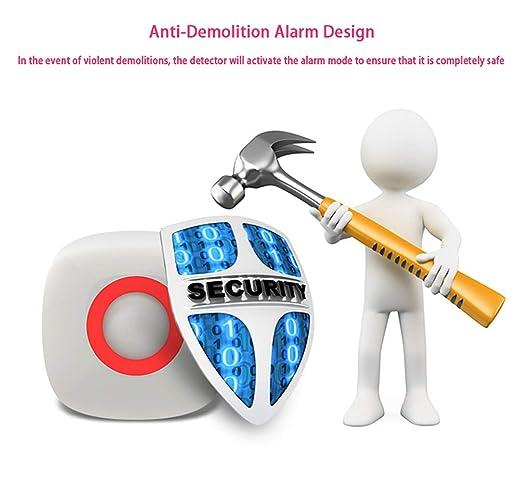 Sensor infrarrojo en el Techo Z-Wave Sensor de Movimiento inalámbrico PIR, Alarma antiviolentos, Accesorios para Sistemas de Alarma Inteligente: Amazon.es: ...