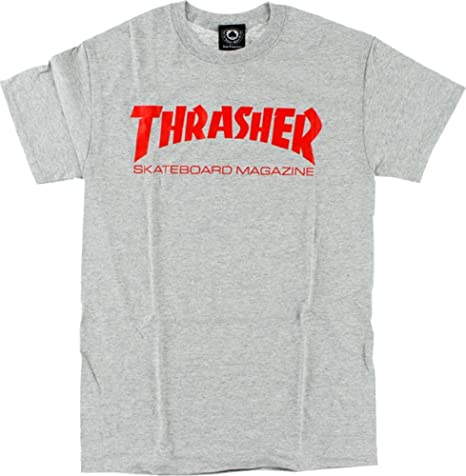 a8315abb7358 Amazon.com : Thrasher Skate Mag Short Sleeve S-Heather/Red T-Shirt : Sports  & Outdoors