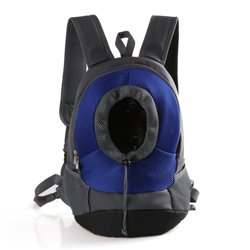 bluee M bluee M CHONGWFS Pet Dog Carrier Bag Backpack Head Out Carrier Double Shoulder Bag Pet Backpack for Walking, Hiking,Travel, Bike and Motorcycle (color   bluee, Size   M)