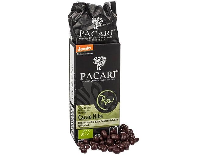 PACARI - Granos de cacao sin tostar bañados en chocolate