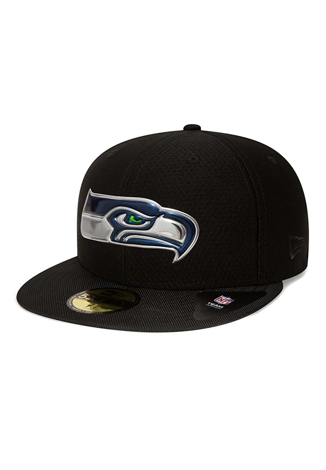 New Era Seattle Seahawks NFL Black Collection 59fifty 5950 Fitted Cap Basecap Kappe Mens
