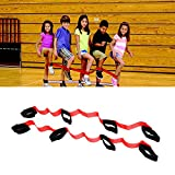 Weoxpr 4 Legged Race Bands for Outdoor Game, Relay Race Game, Carnival, Field Day, Backyard