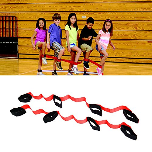 Weoxpr 4 Legged Race Bands for Outdoor Game, Relay Race Game, Carnival, Field Day, Backyard -