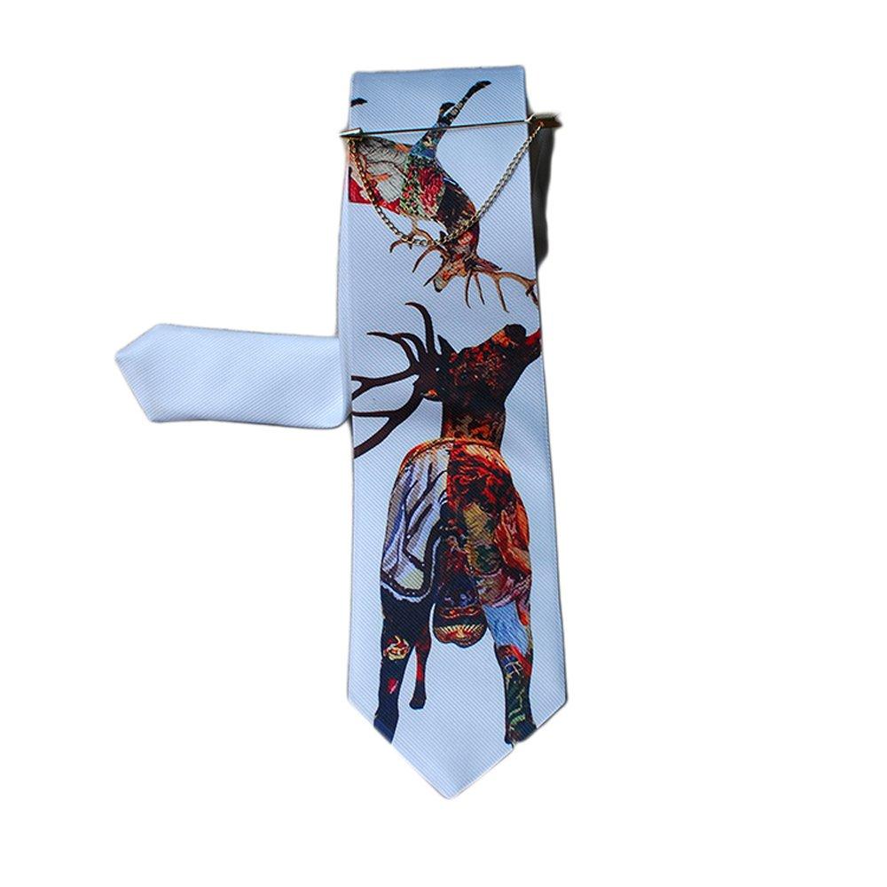 El Diseo De Casa Textile Printing Corbata Estampada Elk: Amazon.es ...