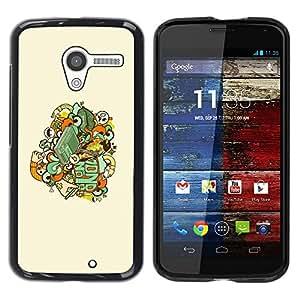 LECELL -- Funda protectora / Cubierta / Piel For Motorola Moto X 1 1st GEN I XT1058 XT1053 XT1052 XT1056 XT1060 XT1055 -- Skull Badge --