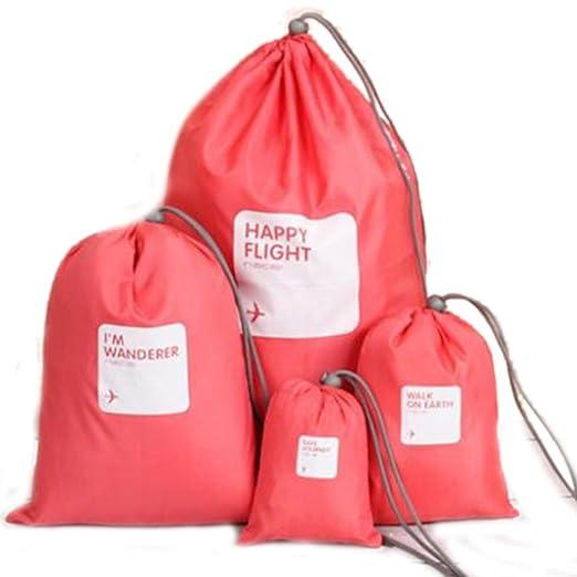 Lote de 4 bolsas impermeables de almacenamiento para viaje, zapatos, ropa, lencería, ropa interior, maquillaje, cosméticos, bolsa organizadora ...