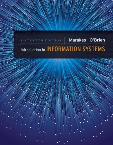 Introduction to Information Systems, 16th Edition Front Cover