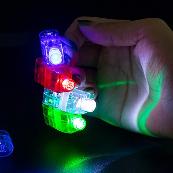 LITSPOT LED Finger Lights,20PCS LED Finger Lamp Party Favor Ring Super Bright