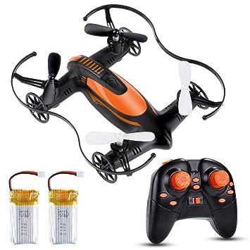 Lictin Mini Drone 2.4G 6-Achsen Ferngesteuerte Drohne mit Zwei Batterien Kopflos Modus Drohne Spielzeug Drohne Geschenk für A