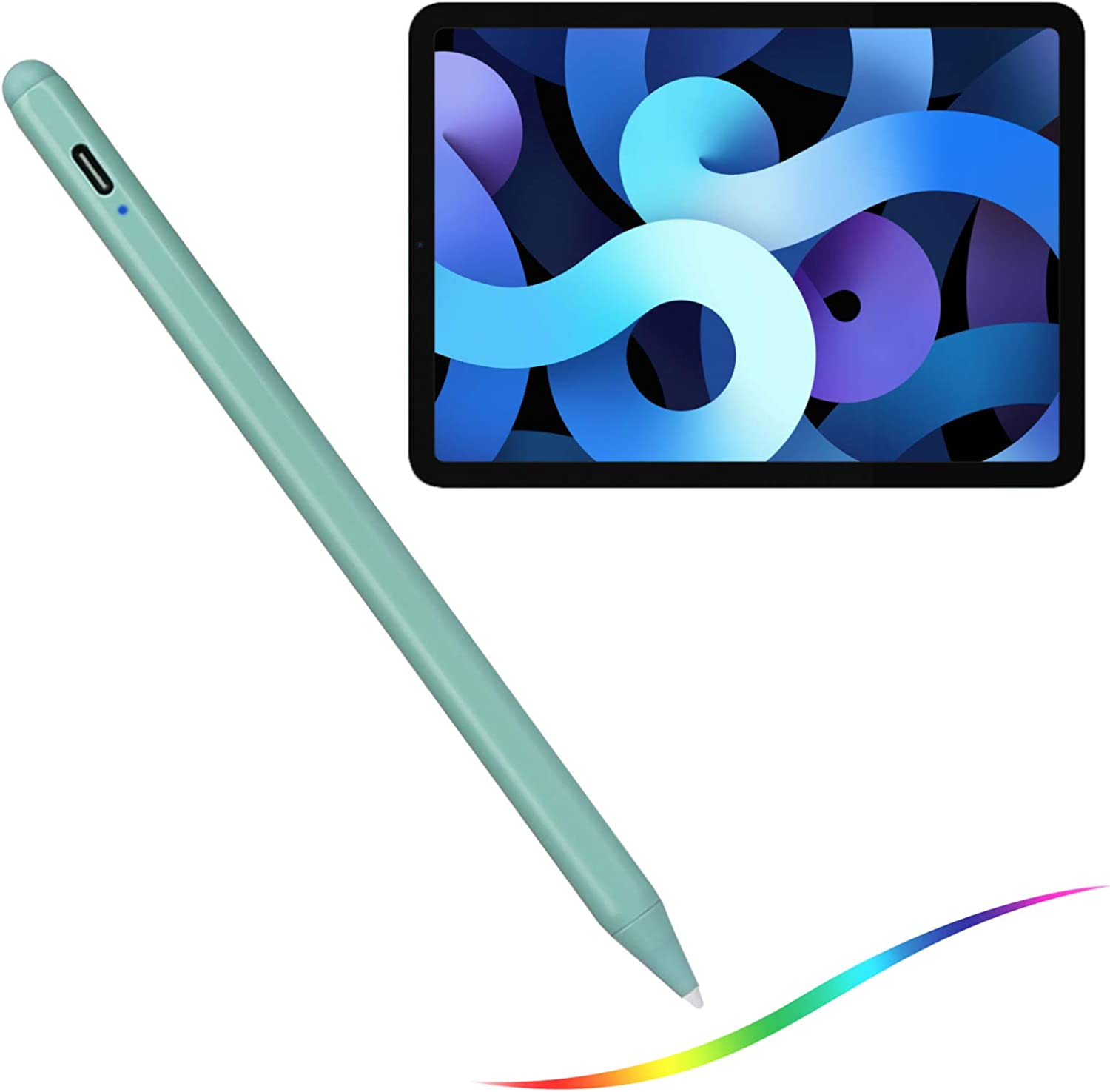 2020 iPad Air 4th Gen 10.9-Inch Stylus Pencil with Palm Rejection,Type-C Charge and Replaceable 1.5mm Fine Tip 2nd Stylus Pens Compatible with Apple Pencil for iPad Air 4th Gen 10.9
