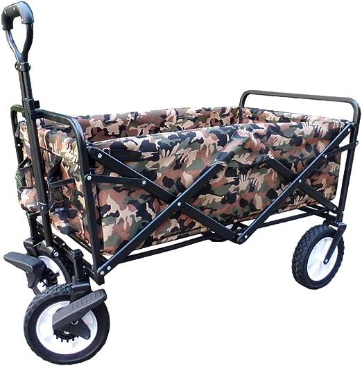 Carrito plegable carro para picnic Carrito de carro plegable for jardín Carro de servicio pesado Carro de compras multifuncional for exteriores cámping playa Tirar del camión con 4 ruedas, Carga: 75kg: Amazon.es:
