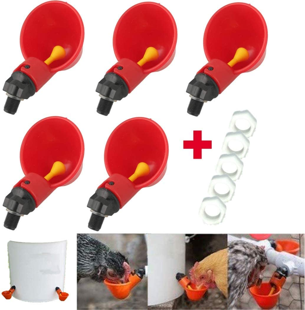 Fully Automatic Poultry Drinking Machine Chicken Drinking Cup Chicken Drinking Machine//Poultry Drinking Machine Making Life Easier LKTingBax 5 Pcs Poultry Waterer