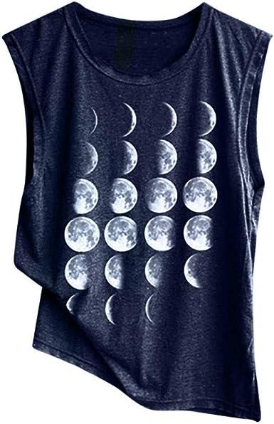 Camiseta sin Mangas para Mujer Algodón Chaleco de Verano Color Sólido Moda Impresos Originales Camisetas de Tirantes Señoras Tops sin Mangas Deportivos Casual MMUJERY: Amazon.es: Ropa y accesorios